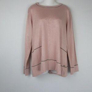 Calvin Klein Blush Pink Stretch Knit Top Sweater